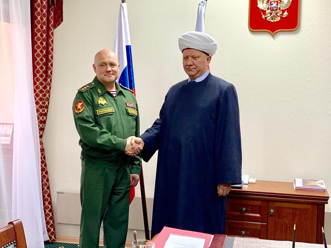 THE HEAD OF SAMR AND STATE SECRETARY - DEPUTY DIRECTOR OF THE NATIONAL GUARD OF THE RUSSIAN FEDERATION DISCUSSED THE COOPERATION ISSUES